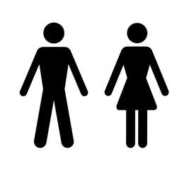 sylwetka mężczyzny i kobiety