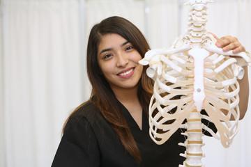 Health care professional, female nurse, medical examiner