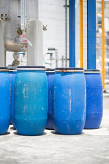 Blue Barrels storage drums