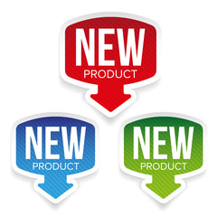 New Product label vector