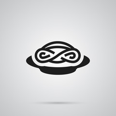 Isolated Pasta Icon Symbol On Clean Background. Vector Spaghetti Element In Trendy Style.