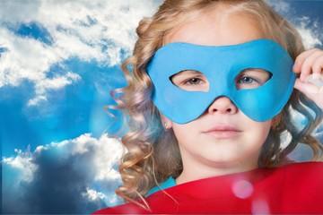 Child super hero.