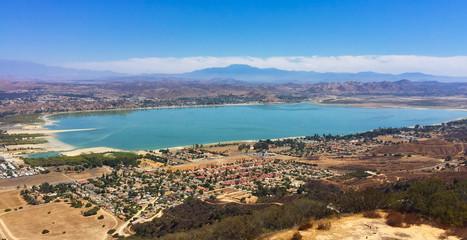 Looking down on lake Elsinore