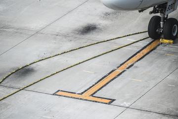 Plane stop position