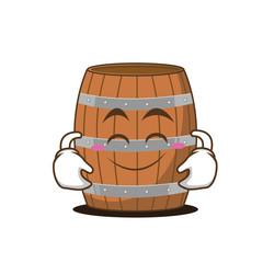 Cute smile barrel character cartoon style