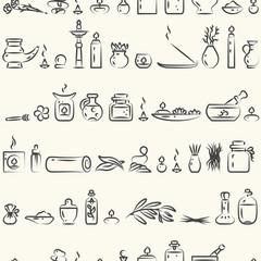 Seamless pattern -aromatherapy supplies