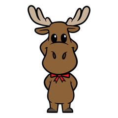 Cartoon Moose Character Vector Illustration