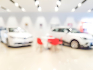 blurred showroom car
