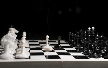 white chess victory again black