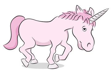 rosa Cartoon Einhorn
