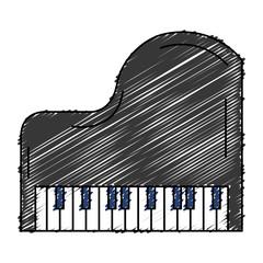 grand piano instrument musical vector illustration design