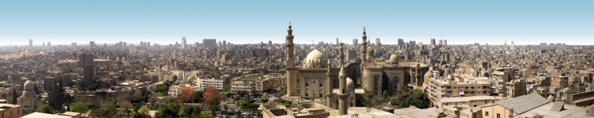 Panoramic view of old Cairo from citadel, Egypt Papier Peint