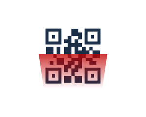 Barcode Scan Icon Logo Design Element