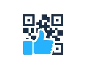 Good Barcode Icon Logo Design Element