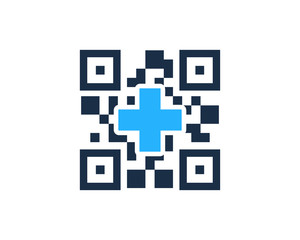 Medical Barcode Icon Logo Design Element