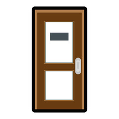 door icon over white background colorful design vector illustration