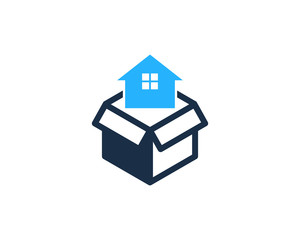 House Box Icon Logo Design Element