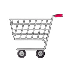 shopping cart icon over white background colorful design vector illustration