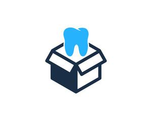 Dental Box Icon Logo Design Element