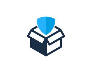 Shield Box Icon Logo Design Element