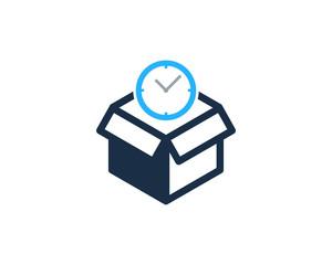 Time Box Icon Logo Design Element