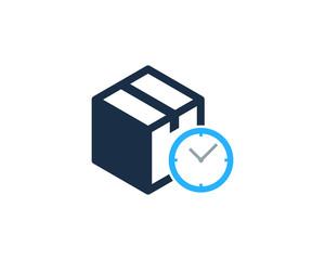 Box Time Icon Logo Design Element