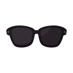 glasses icon over white background vector illustration
