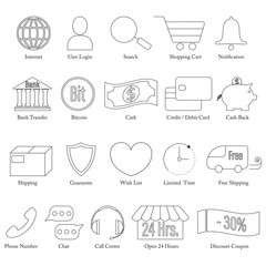 Set of E-Commerce Line Icon Editable Stroke