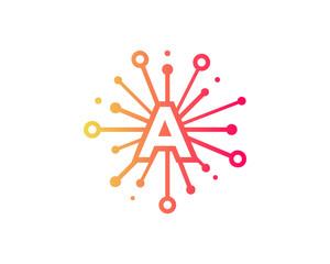 Share Letter A Icon Logo Design Element