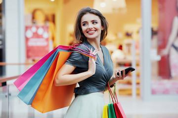 Pretty girl shopping