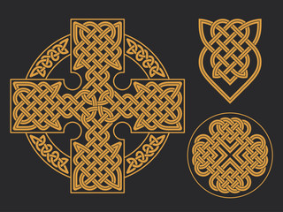 Vector celtic cross. Ethnic ornament Geometric design T-shirt pr