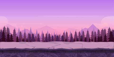 Fotorolgordijn Purper Background for your game, created in modern purple colours. Sunset and twilight time.