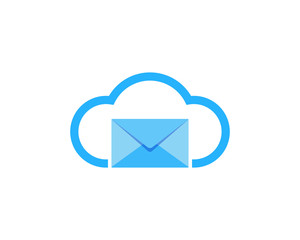 Cloud Mail Icon Logo Design Element
