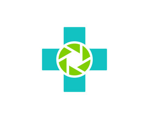 Camera Medicine Icon Logo Design Element