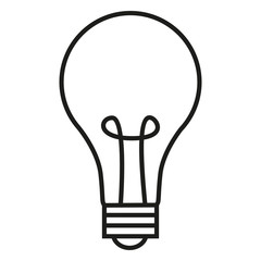Vector Single Outline Icon - Lightbulb