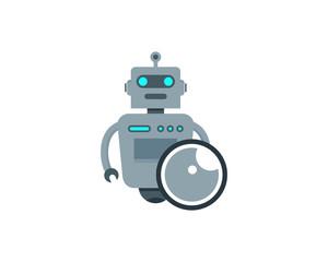 Robot Eye Icon Logo Design Element