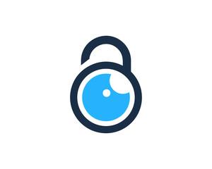 Eye Lock Icon Logo Design Element