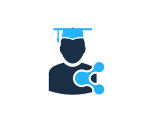 School Share Icon Logo Design Element