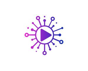Share Media Icon Logo Design Element