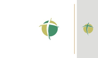 Cross, catholic, christian emblem symbol icon vector logo