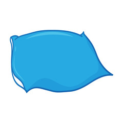 pillow isolated illustration on white background