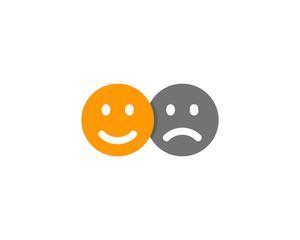Happy Sad Social Network Icon Logo Design Element