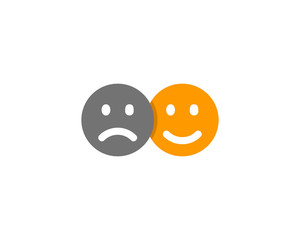Sad Happy Social Network Icon Logo Design Element