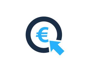 Euro Stock Market Business Icon Logo Design Element