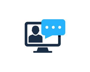Internet Feedback Testimonial Icon Logo Design Element
