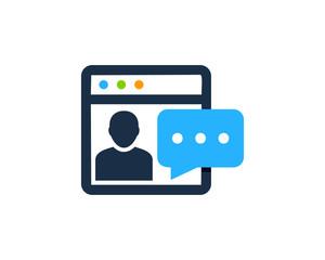 Web Feedback Testimonial Icon Logo Design Element