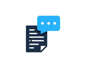 Document Feedback Testimonial Icon Logo Design Element