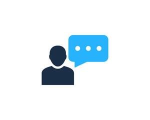 People Feedback Testimonial Icon Logo Design Element