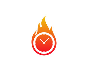 Hot Time Icon Logo Design Element