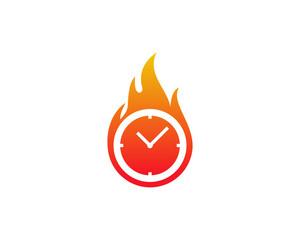 Hot Time Icon Logo Design Element